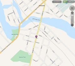 Location map for Almonte Bicycle Works on Mapquest